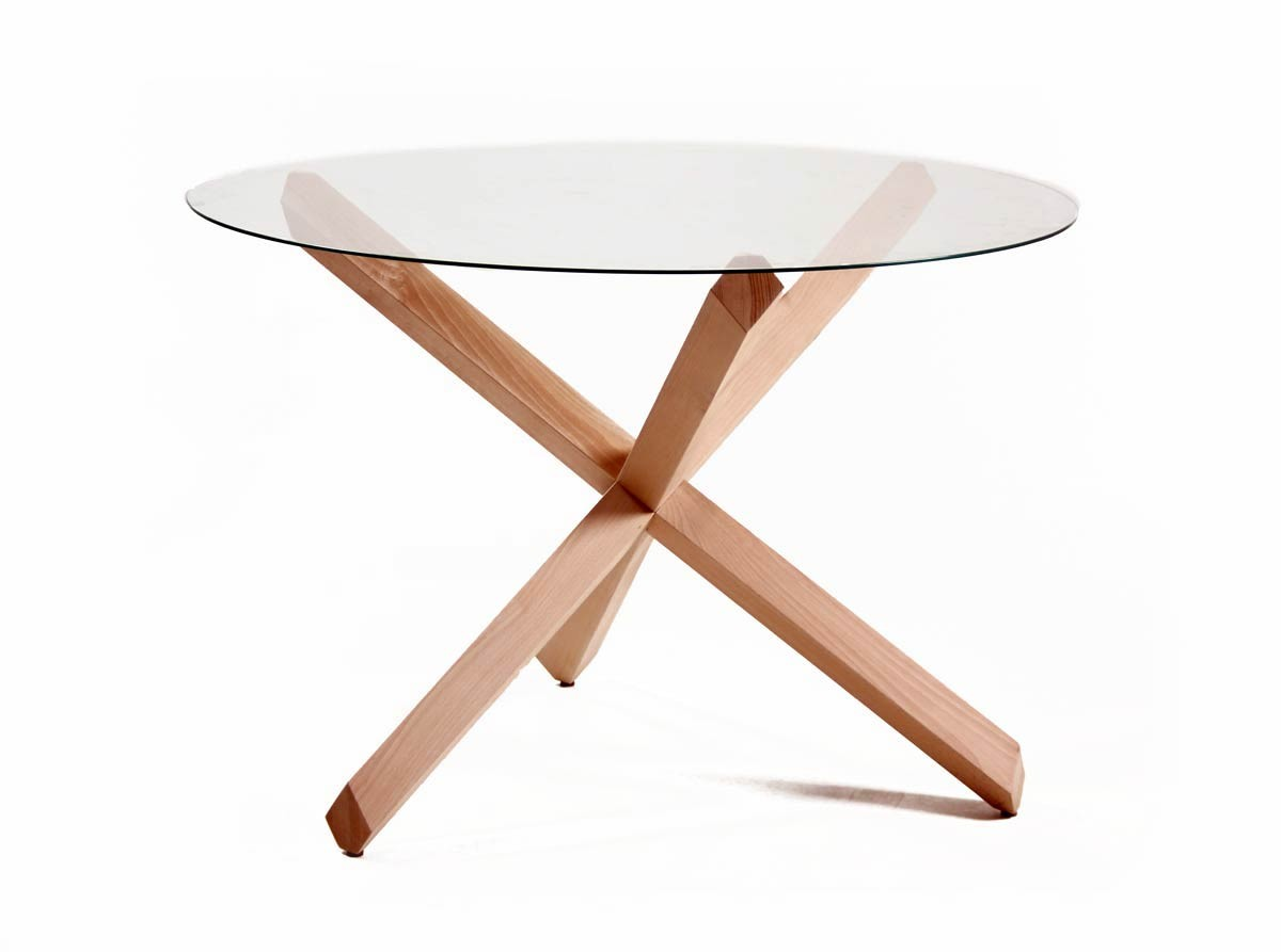 Table A Manger Verre Table Ronde En Verre Design Brin D 39ouest