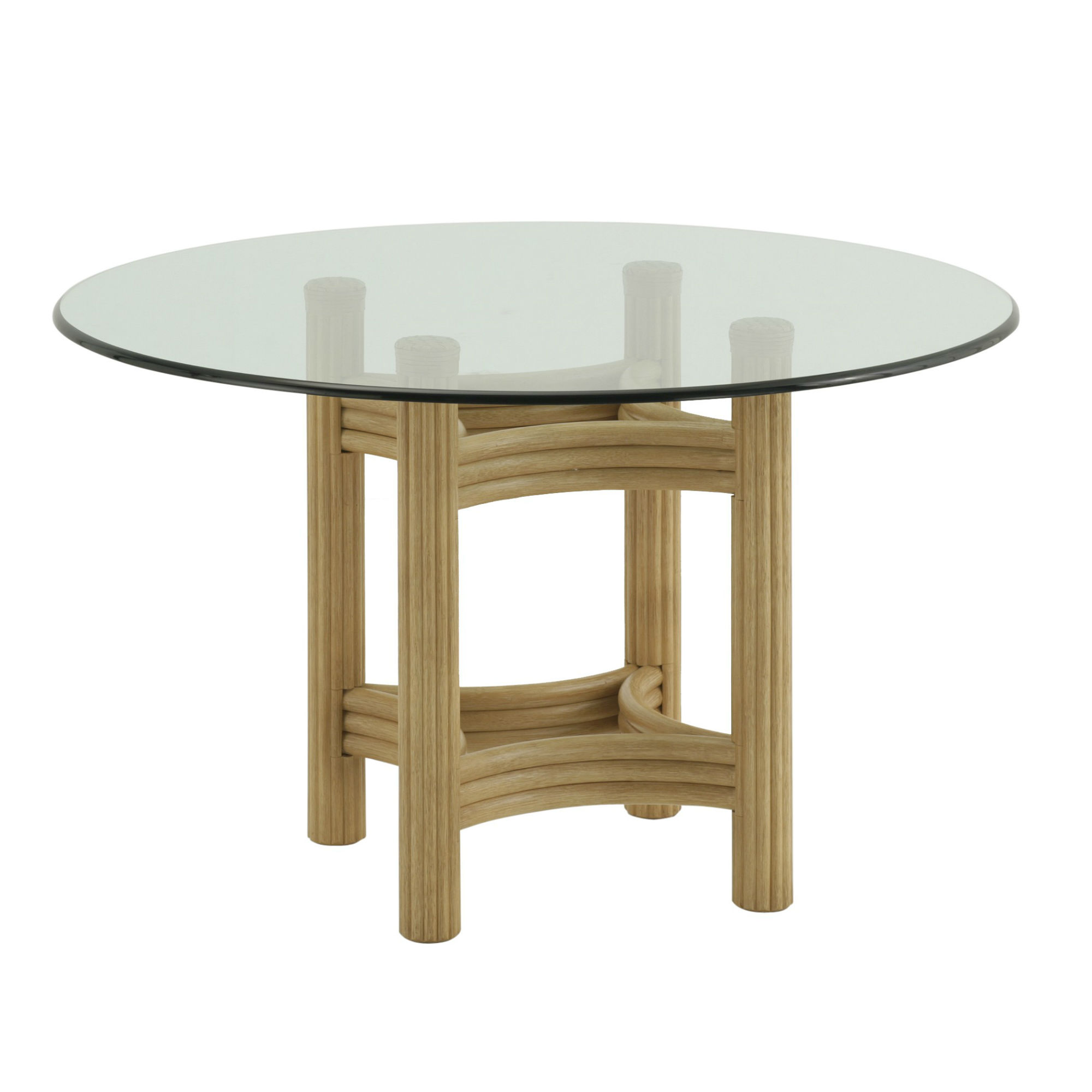 Table Ronde En Verre But Table Ronde Verre Et Rotin Brin D 39ouest