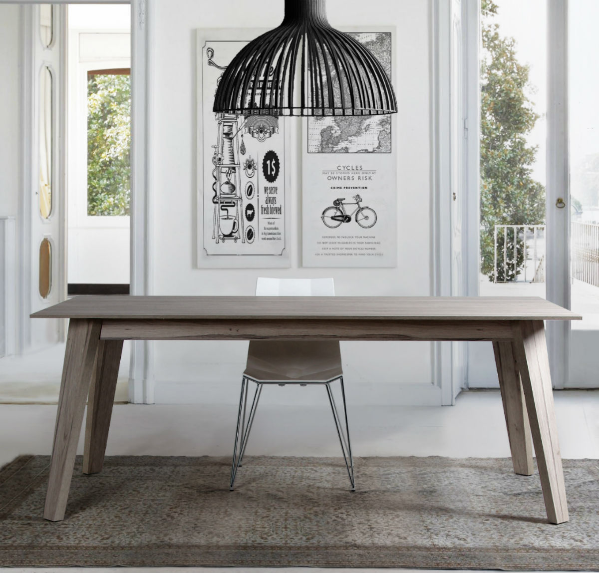 Chaise Salle A Manger Style Scandinave Table Salle A Manger Style Scandinave Oveetech