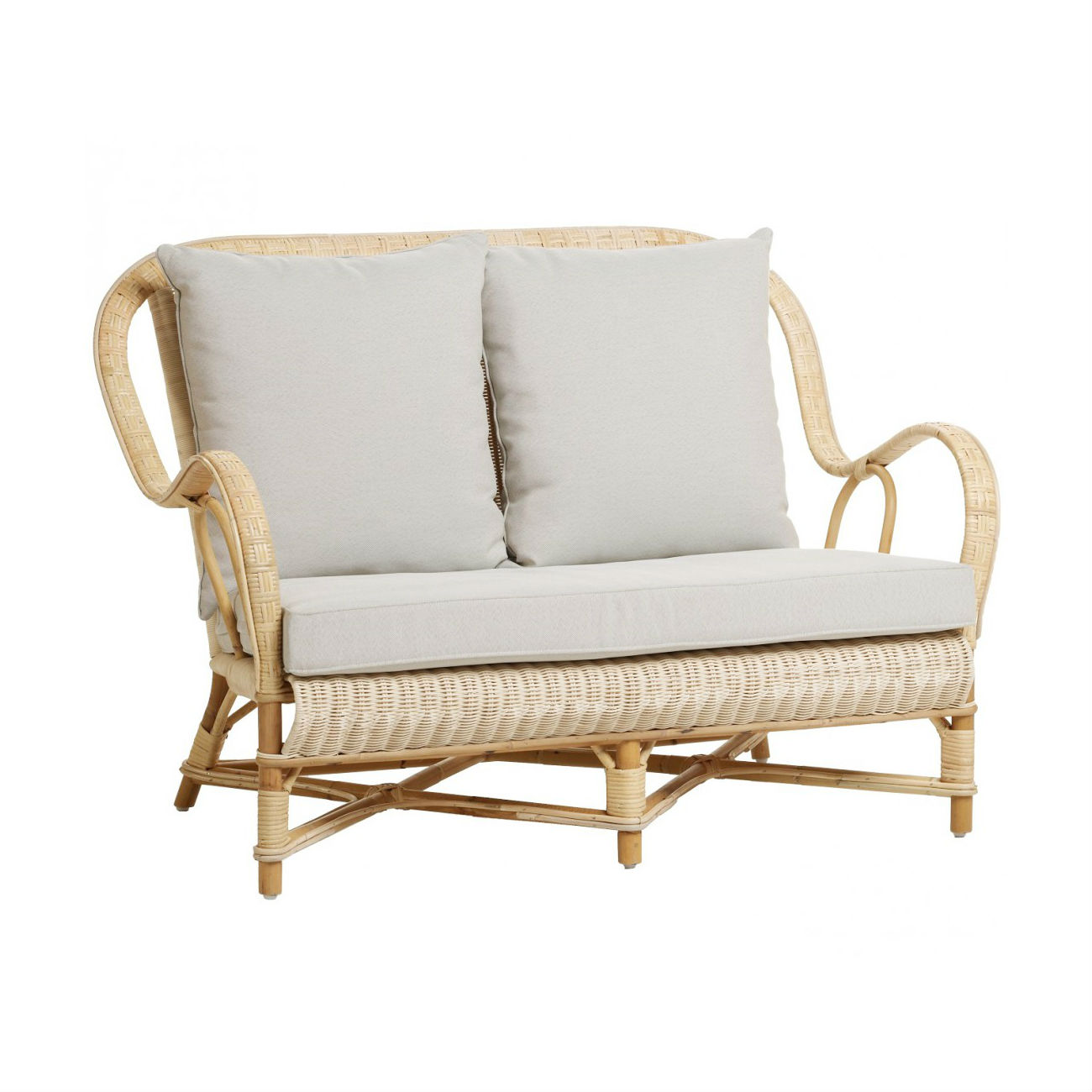 Canapé Rotin Vintage Naturel 2 Places Nantucket Brin D Ouest