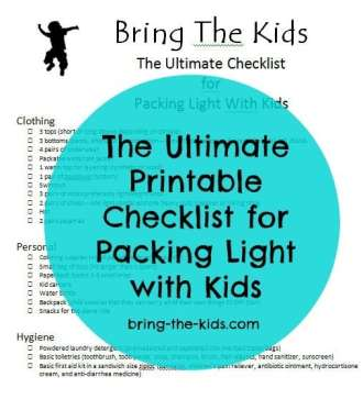 the ultimate checklist to packing light with kids