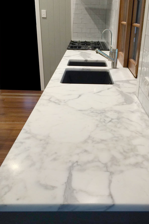 Island Kitchen Sink Project 9 - Marble Kitchen - Brisbane Granite And Marble