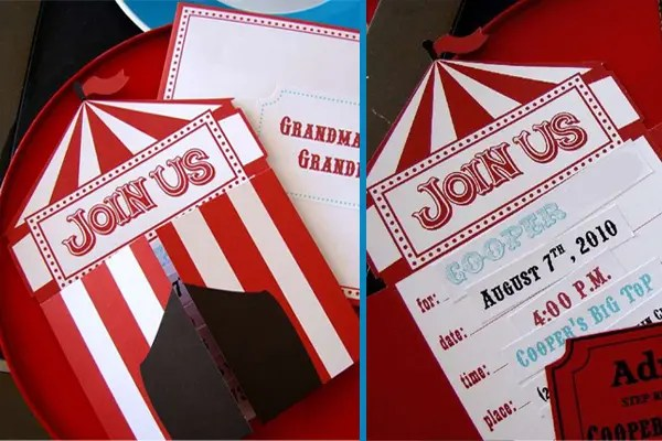 Roll Up! 16 Big Top Circus Party Ideas Brisbane Kids - Circus Party Invitation