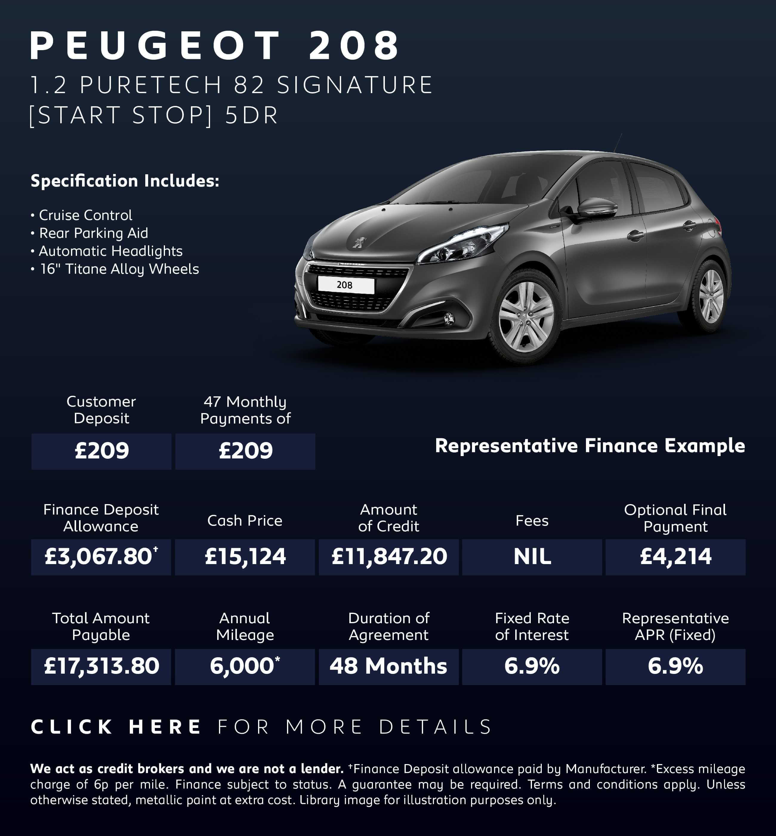 New Peugeot 208 Deals Peugeot 208 Signature Deals New Peugeot 208 Signature