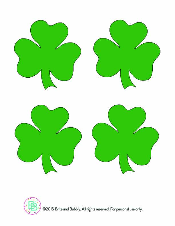 DIY Printable Giant Shamrock Confetti! ⋆ Brite and Bubbly - shamrock template