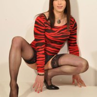 British Tgirl Dirty Danni Struts Her Stuff On TranZMania!