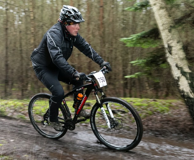 Mark battling the elements on his Velocite Flux 29er. Photo courtesy of David Birkin / SussexSportPhotography.com