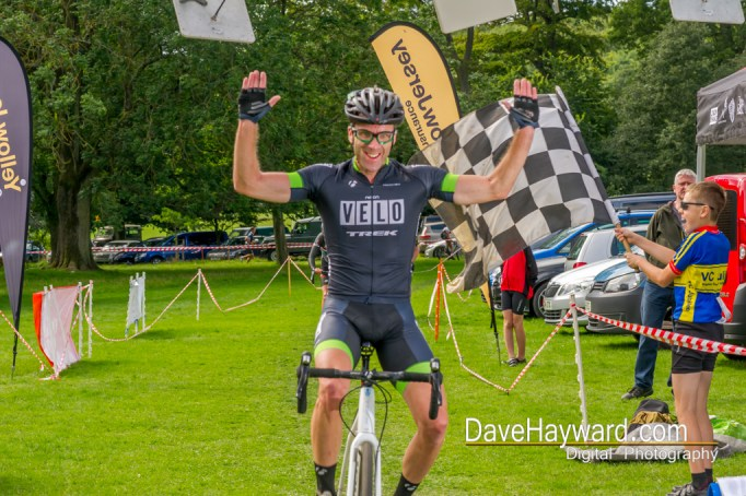 Robert Purcell takes the overall in the Vets & Women Open race. Photo courtesy of Dave Hayward