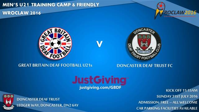 U21 Advert July Camp - Doncaster [81652]