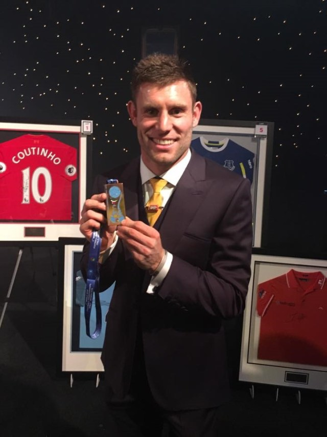 James MIlner with our World Cup Bronze medal
