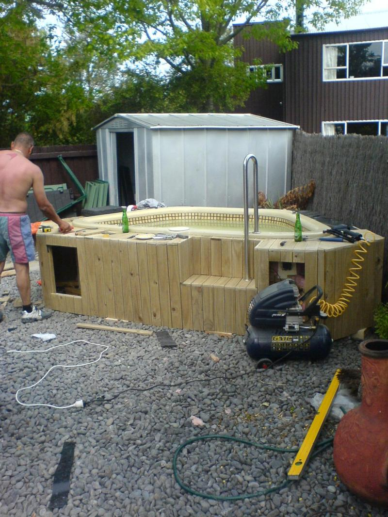 Large Of Homemade Hot Tub