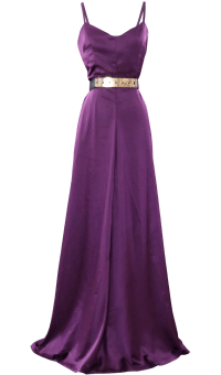 Long Evening Satin Maxi Dress by British Steele