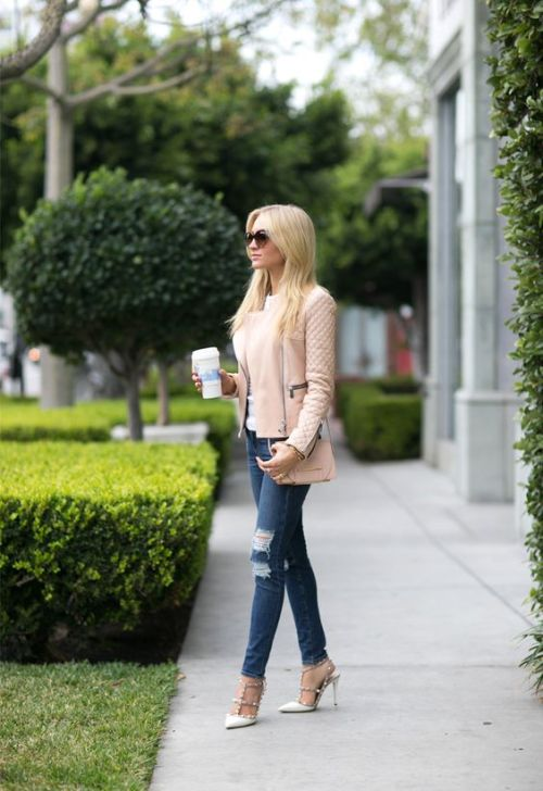 blush pink outfit inspo