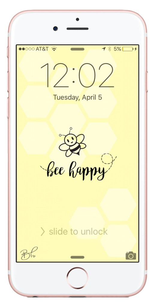 bee happy wallpaper // Britney Termale Lifestyle Blog