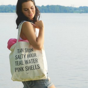 mermaid list tote mermaid tote canvas tote tan skin salty hair teal water pink shells