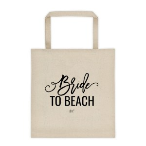 Bride to Beach Tote Bag