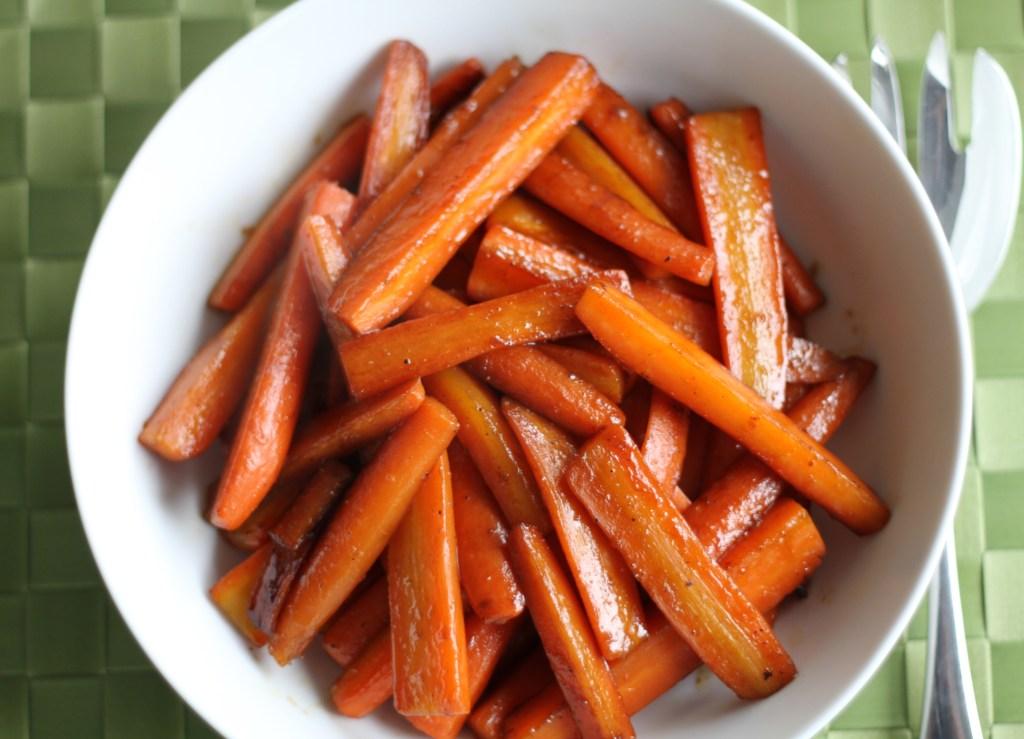 Pomegranate Glazed Carrots