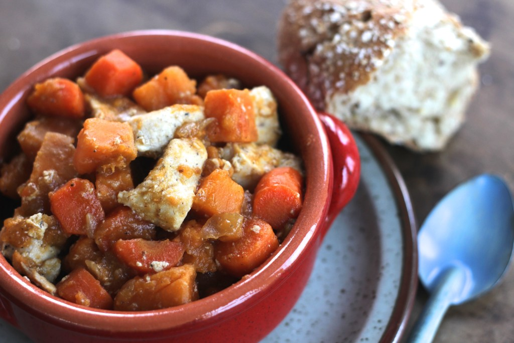 This Chicken & Sweet Potato Stew is gluten-free and paleo to boot! Wonderful to make ahead and put in the freezer or enjoy immediately! Yum! {Brittany's Pantry}