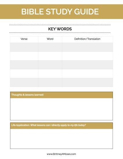 Printable Bible Study Guide pg 2