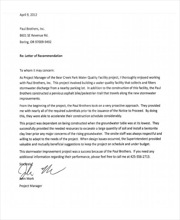 Employee Recommendation Letter brittney taylor
