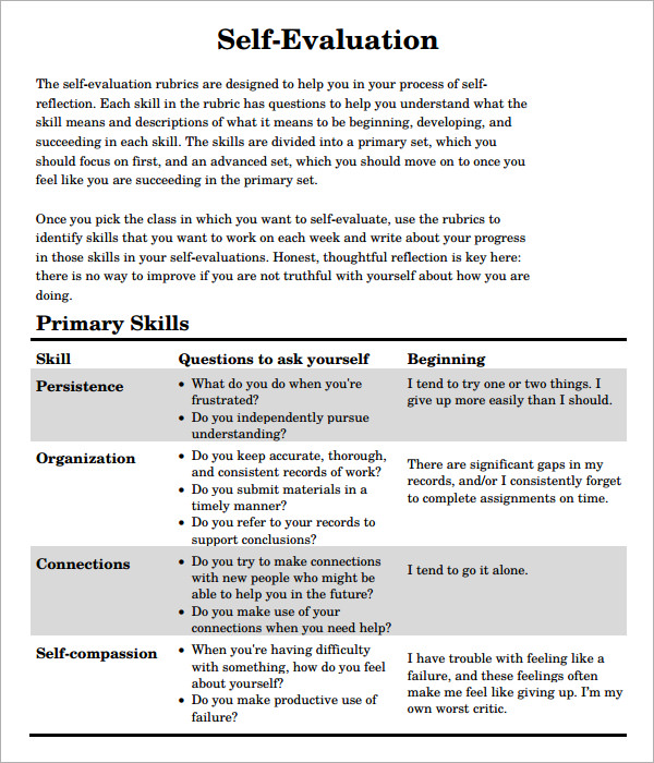 Employee Self Evaluation Examples brittney taylor