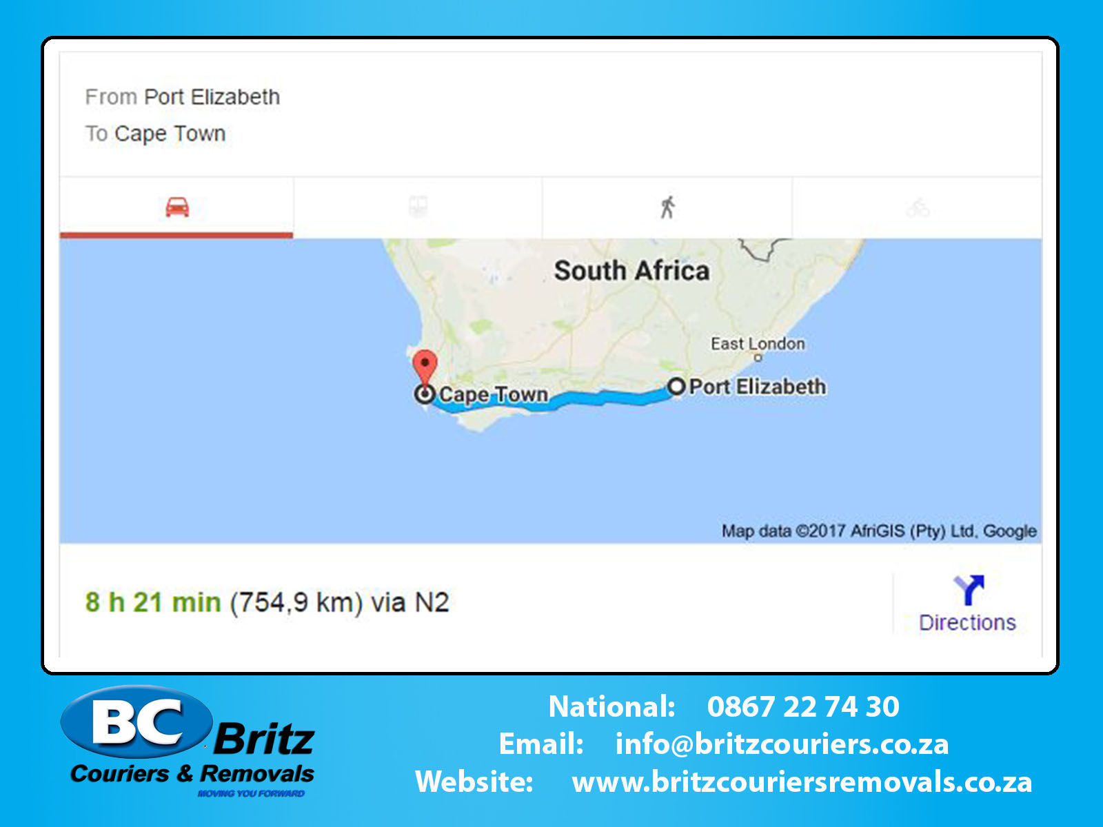 Furniture Removals Port Elizabeth To Cape Town Britz Couriers Removals