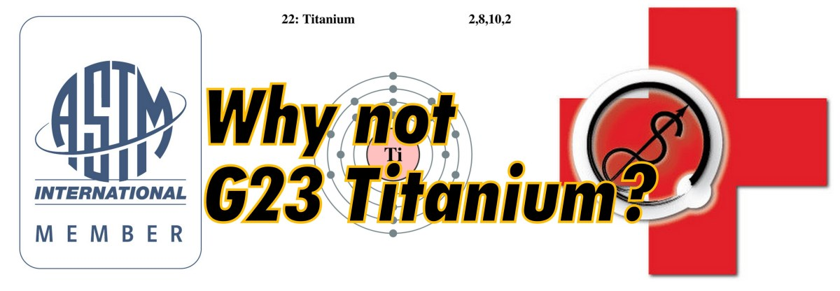 Titanium standards: why not G23?