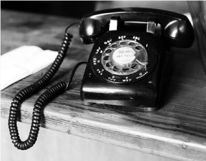 Black and White Rotary Phone
