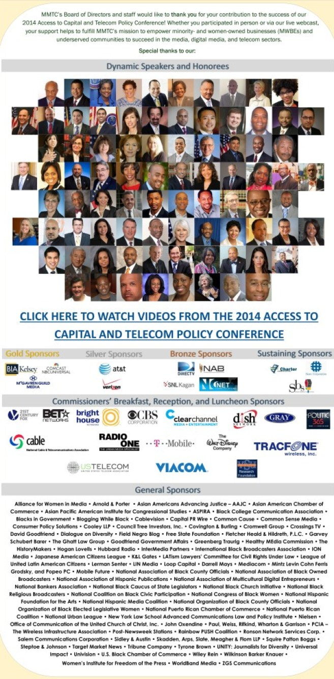 MMTC Access to Capital Conference Thank You Eblast2014