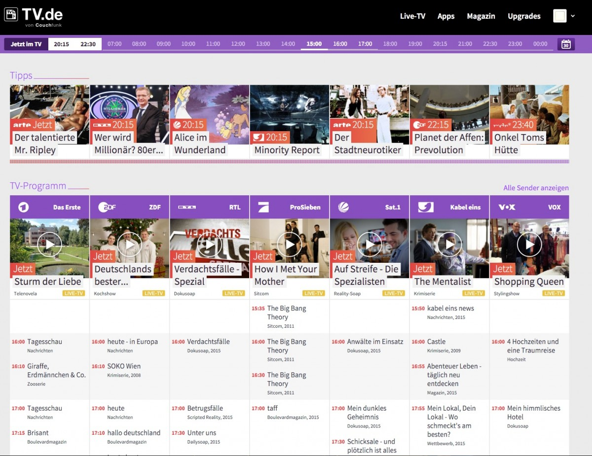 Tv Spielfiml New Ott Service Tv De Launches In Germany