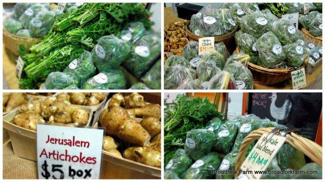 organic vegetables Dieppe