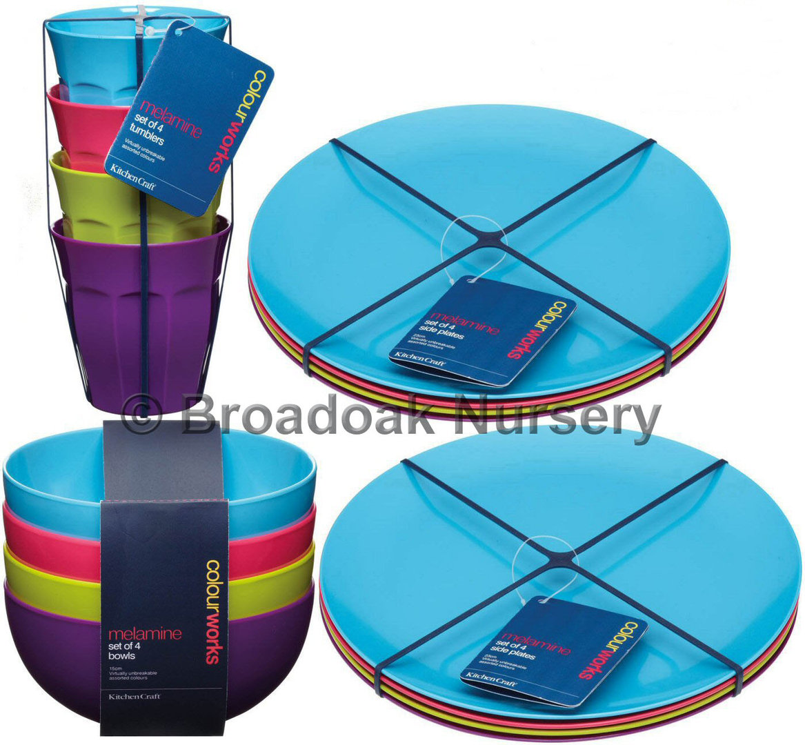 Colourworks Melamine Tableware Dinnerware Party Picnic Camping