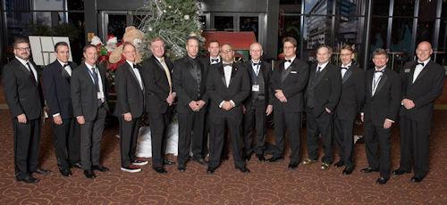 (L-R) Rob Harrell, Bill Morrison, Steve Moore, Rick Kirkman, Jeff Keane, Ed Steckley, Todd Clark, Ray Alma, Brian Crane, Paul Combs, Chad Carpenter, Dave Mowder, Jeff Myers, Jeff Bacon