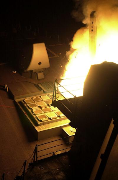TLAM being fired from USS John Paul Jones (DDG 53)