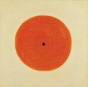 Il Cerchio (The Circle), 1967; Tempera and pencil on canvas; Courtesy of Archivio Bice Lazzari
