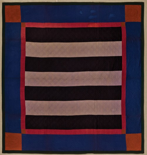 Bars Quilt, ca. 1890, Pennsylvania; Cotton and wool, 83 x 82 in.; Brooklyn Museum, Gift of Mr. and Mrs. H. Peter Findlay, 77.122.3; Photography by Gavin Ashworth, 2012, courtesy of the Brooklyn Museum