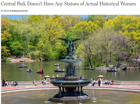 New York Magazine discusses the lack of monuments featuring women.