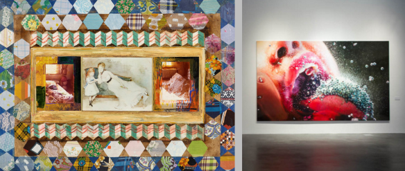 Left to right: The New York Times examines and Hyperallergic explores Marilyn Minter