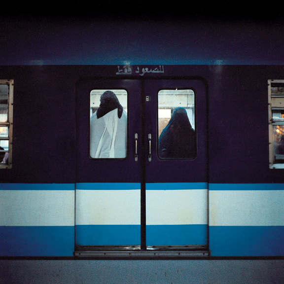 "Rana El Nemr, Metro (#7), from the series ""The Metro,"" 2003; Pigment print, 39 3/8 x 39 3/8 in.; Museum of Fine Arts, Boston; Museum purchase with general funds and the Abbott Lawrence Fund, 2013.569; Photograph © 2015 MFA Boston"