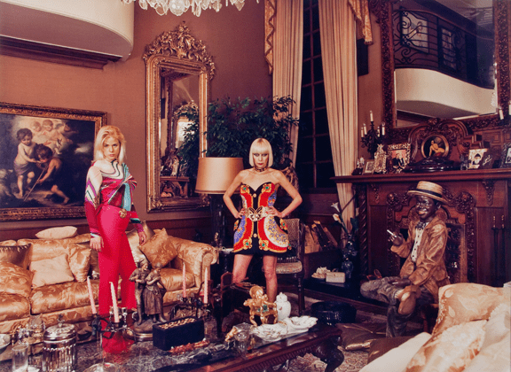 """Daniela Rossell, Inge and Her Mother Ema in the Living Room from the series """"Ricas y famosas,"""" NMWA, Gift of Heather and Tony Podesta Collection, Washington, DC; © Daniela Rossell, Courtesy of the artist and Greene Naftali, New York"""