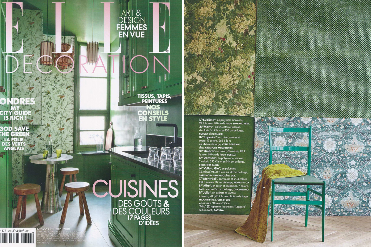 Des Decoration In The Media Elle Decoration October 2018 Brochier