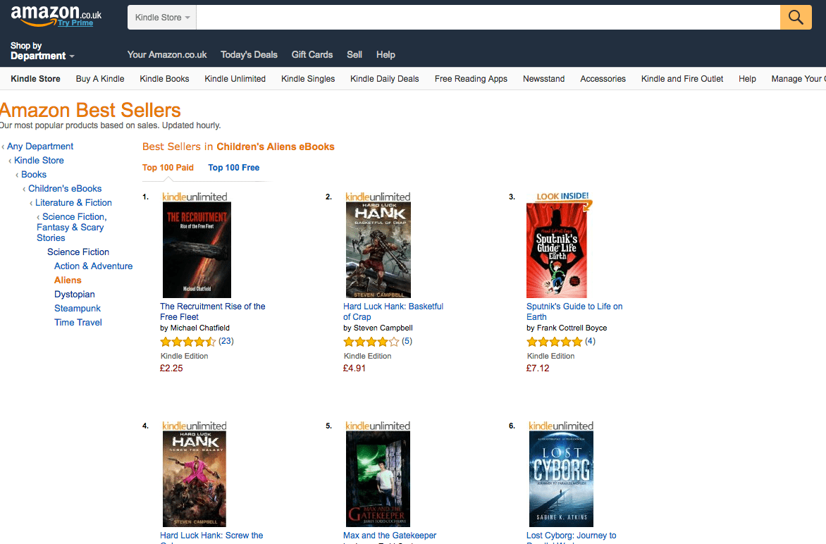 Amazon Uk Books Brock Grad Topping Amazon Charts With Sci Fi Books The Brock News