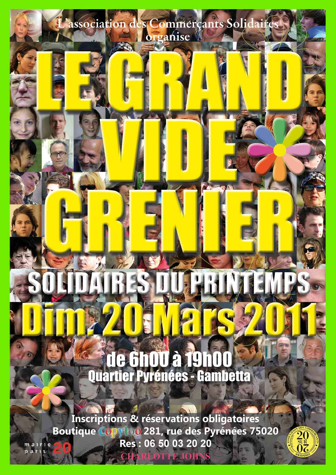Vide Grenier Paris Ile De France Grand Vide Grenier Solidaire Du Printemps à Paris Vide
