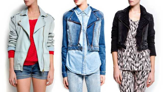 Denim Motorcycle Jackets from Mango