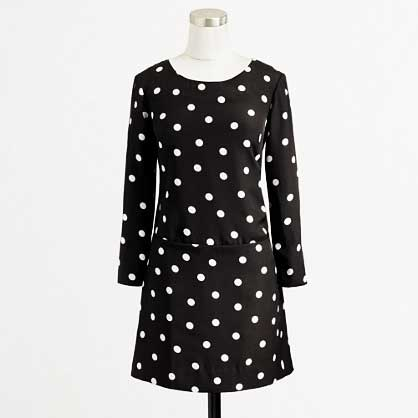 J. Crew Factory Polka Dot Dress
