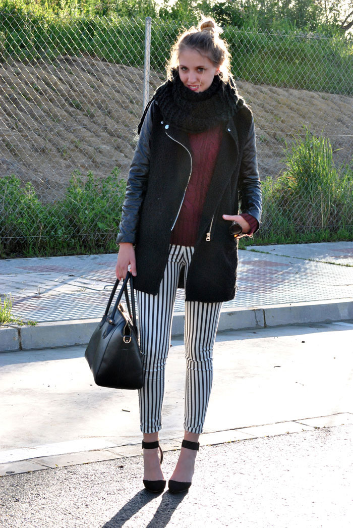 How to wear striped pants