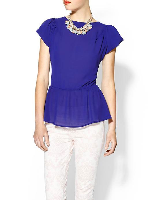Daily Deal: Tinley Road Puff Sleeve Peplum Top