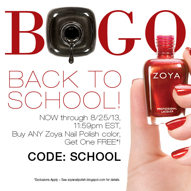 Zoya Back to School BOGO
