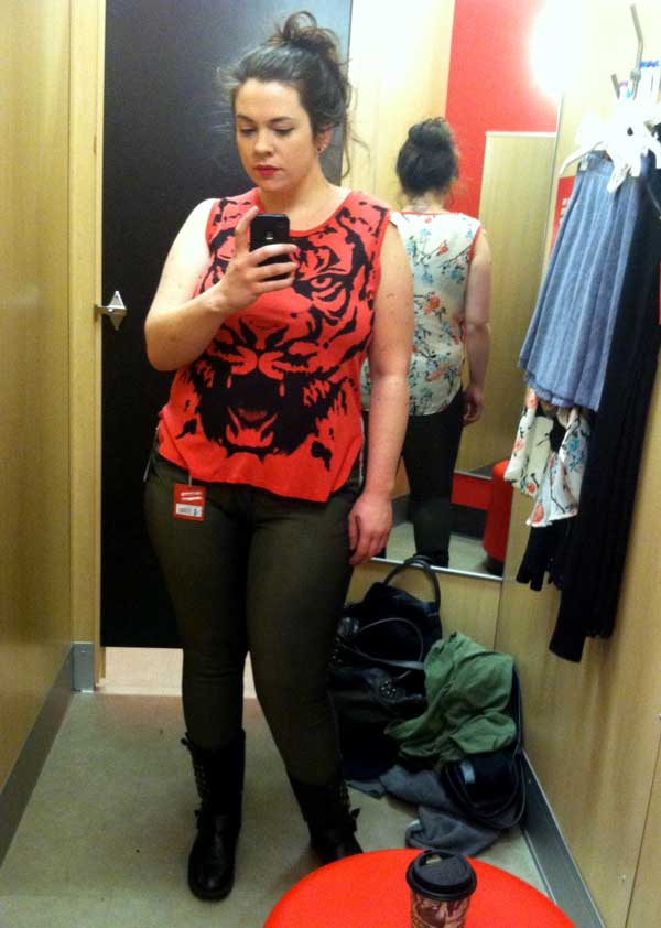 Target Tiger Floral Tee is my new BFF