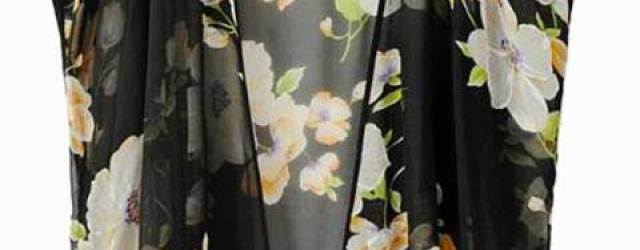 Daily Deal: Floral Sheer Chiffon Bed Coat from Choies